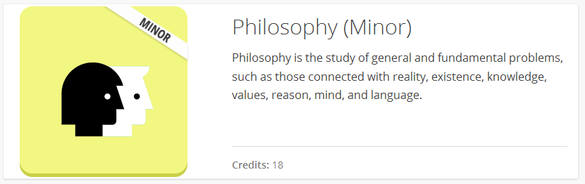 Philosophy Minor Banner