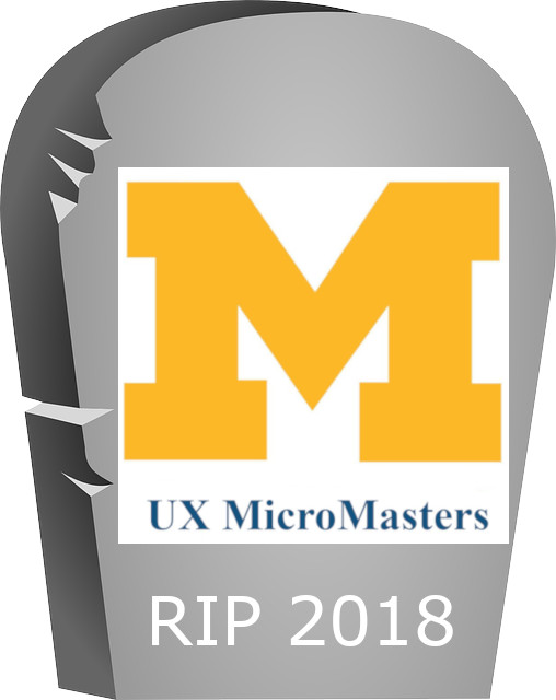 University of Michigan UX Micromasters tombstone
